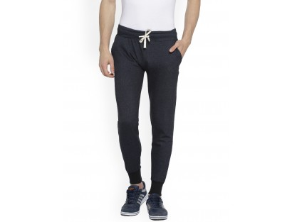 Textured Navy Blue Jogger-CHLR