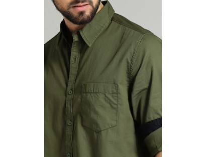 Pickle Green Solid Shirt-CHLR