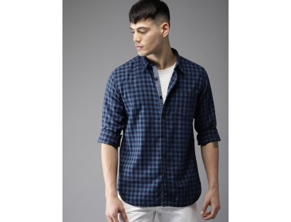 Gingham Checked Blue Shirt-CHLR(similar style)