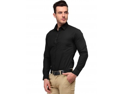 Black Solid Shirt-CHLR