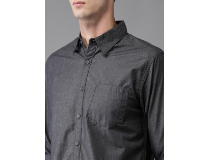 Charcoal Solid Shirt-CHLR