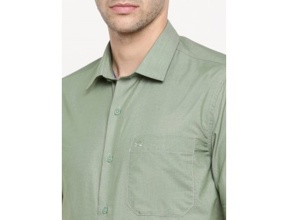 Mine Green Solid Shirt-CHLR