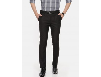 Black Solid Formal Trouser-CHLR