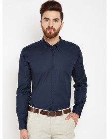 Navy Blue  Solid Shirt-CHLR(similar style)