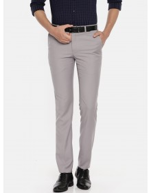 Grey slim fit Solid Formal Trouser-CHLR(similar style)