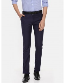 Navy Slim FIt Solid Formal Trouser-CHLR(similar style)