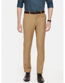 Khaki Slim Fit  Solid Formal Trouser-CHLR(similar style)
