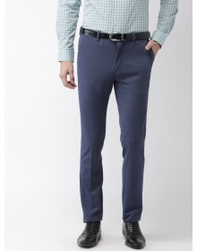 Navy Blue Slim fit  Solid Formal Trouser-CHLR(similar style)