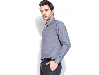 Blue  Slim Fit  Solid Shirt-CHLR(similar style)