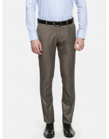 Brown Slim Fit  Solid Trousers-CHLR(similar style)