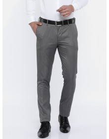 Charcoal  Grey Slim Fit Solid Trousers-CHLR(similar style)