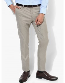 Light Grey Self Design  Solid Trousers-CHLR(similar style)