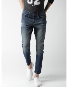 Blue Tapered Fit Clean Look Blue Jeans-CHLR(similar style)