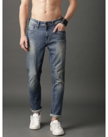 Shaded Blue Tapered Fit Clean Look Blue Jeans-CHLR(similar style)