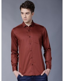 Rust Brown Solid Shirt-CHLR(similar style)