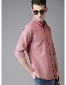 Red Regular Fit Solid Shirt-CHLR(similar style)