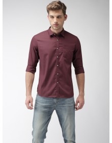 Maroon Regular Fit  Solid Shirt-CHLR(similar style)