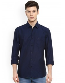 Navy Blue Slim Fit  Solid Shirt-CHLR(Similar style)