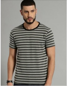 Grey Striped T-Shirt(Similar Style)-CHLR