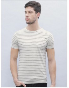 Off White Striped T-Shirt(Similar Style)-CHLR