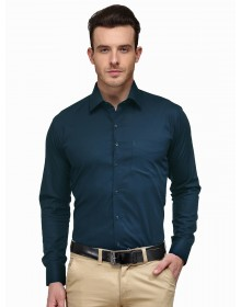 Formal Solid Teal Blue Shirt-CHLR(Similar Style)