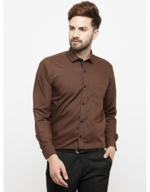 Formal Solid Coffee Brown Shirt-CHLR(Similar Style)