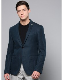 Teal Blue Solid Blazer-CHLR(Similar Style)