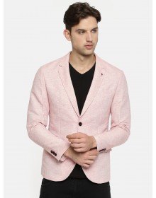 Dusty Rose Pink Single-Breasted Casual Blazer-CHLR(Similar Style)