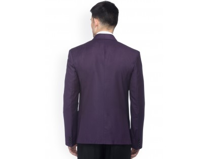 Violet Slim Fit Single-Breasted Formal Blazer-CHLR(Similar Style)