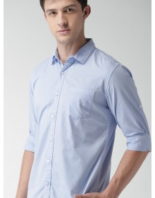 Sky Blue Solid Casual Shirt-CHLR(Similar Style)