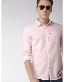 Pink Slim Fit Solid Casual Shirt-CHLR(Similar Style)