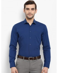 Blue Regular Fit Solid Formal Shirt-CHLR(Similar Style)