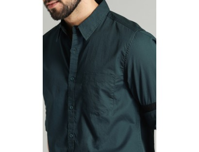 Teal Solid Shirt-CHLR(similar style)