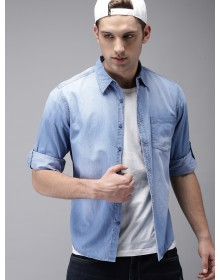 Sky Blue Denim Faded Casual Shirt -GG(Similar style)