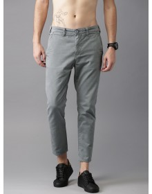 Grey Solid Chinos-GG(similar style)