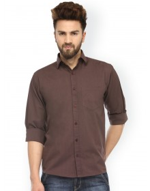 Coffee Brown Solid shirt-GG(similar style)