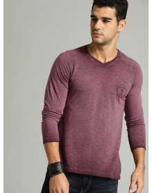 Men Mauve  T-Shirt-GG(similar style)