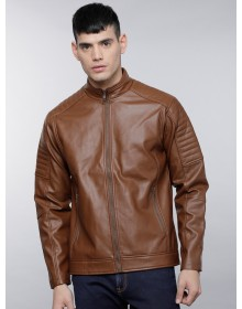 Brown Biker Jacket-TW(Similar style)