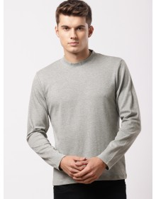 Grey Solid Round Neck T-Shirt-TW(Similar style)