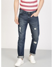 Blue Slim Fit Distressed Jeans-TW(similar style)