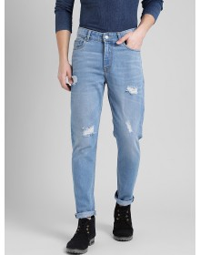 Distressed Sky Blue Jeans-TW(Similar style)