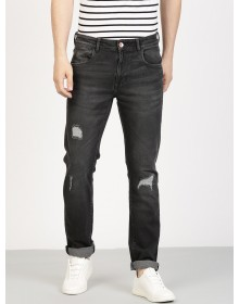 Distressed Charcoal Grey Jeans-TW(Similar style)
