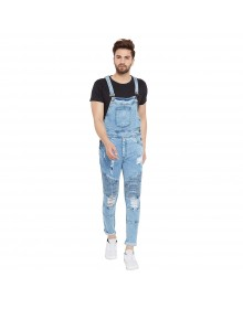 Blue Denim Bikers Dungaree(Similar Style)-TW