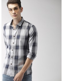 Navy Blue&Grey Other Checked shirt-NPS (similar style)