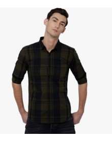 Olive Shaded Checked Shirt-NPS(similar style)