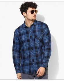 Blue Shaded Checked Shirt-NPS(similar style)