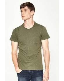 Olive Green Dyed Casual T-Shirt-NPS(similar style)