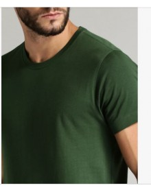 Green Round Neck Casual T-shirt-NPS
