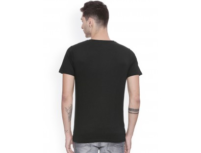 Black Solid T-Shirt-DC