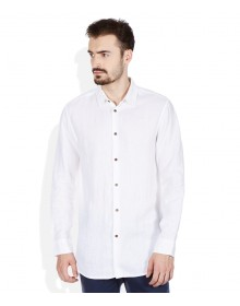 Jack & Jones White Slim Fit Solid Shirt